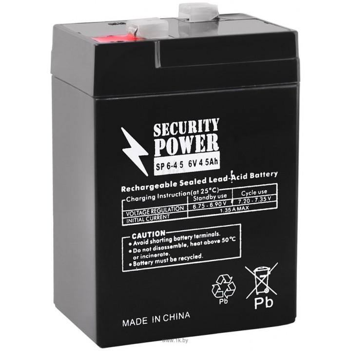 Аккумулятор для ИБП Security Power SP 6-4,5 F1 (6В/4.5 А·ч)