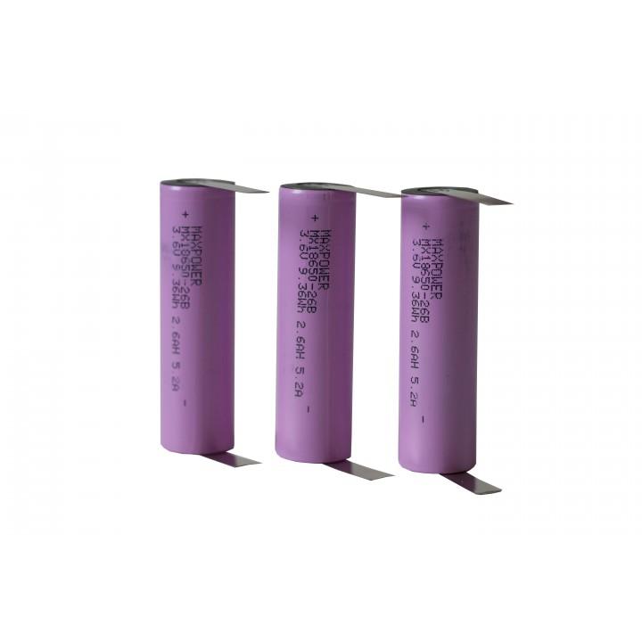 Li-ion аккумуляторы с выводами MX-18650-26BK