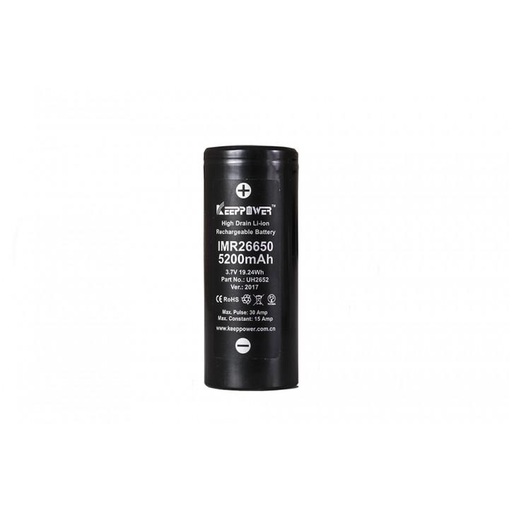 Аккумулятор  KeepPower IMR26650 30A (5200А/ч)