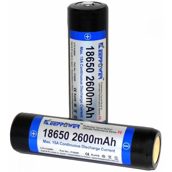 Аккумулятор KeepPower 18650 P1826R (2600 А/ч)