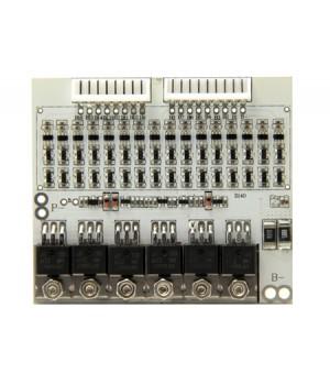 Плата защиты для литиевых аккумуляторов c балансиром и термореле 16S(59.2V/15А) Maxpower
