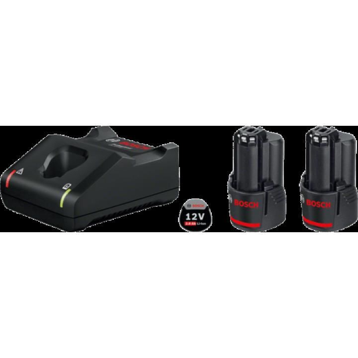 Зарядное устройство GAL 12V-40 + 2 GBA 12V 2.0 Aч, BOSCH, 1.600.A01.9R8