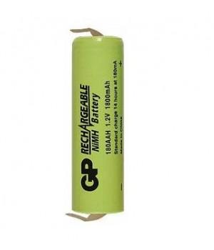 Аккумулятор с выводами GP Ni-MH AA, R6 (1.2 B, 1800 мА/ч) GP 180AAH-2K