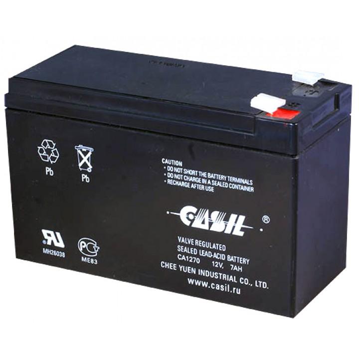 Аккумулятор свинцово-кислотный CASIL CA1270 (12V 7Ah)
