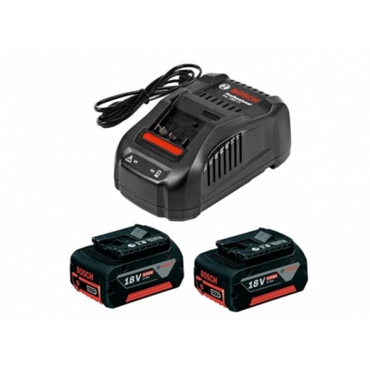 Аккумуляторный блок GBA 18 В 2x5,0Ah + зарядное GAL 1880 CV Professional, BOSCH 1.600.A00.B8J