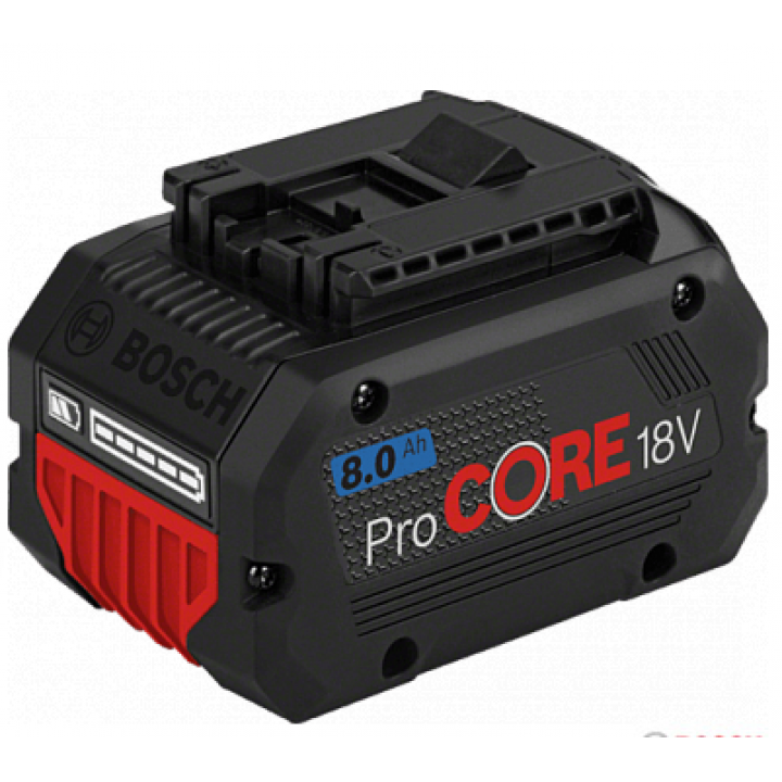 Аккумуляторный блок ProCORE 18 В 1х8,0Ah Professional (-1-), BOSCH 1 600 A01 6GK