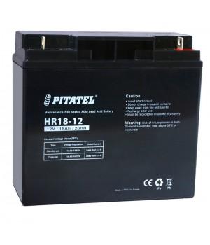 Аккумулятор свинцово-кислотный Pitatel HR18-12, 12V 18Ah