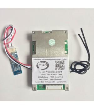 Плата защиты для литиевых аккумуляторов c балансиром и UART/Bluetooth 10S(37.0V/60А) Maxpower