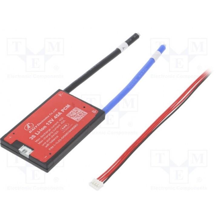 Плата защиты DALY для Li-Ion батареи  (3S 11.1В 45А)