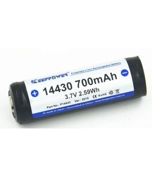 Аккумулятор KeepPower Li-ion с защитой 14430 (3.7 В, 0,7 А/ч) P1443C (PCB)