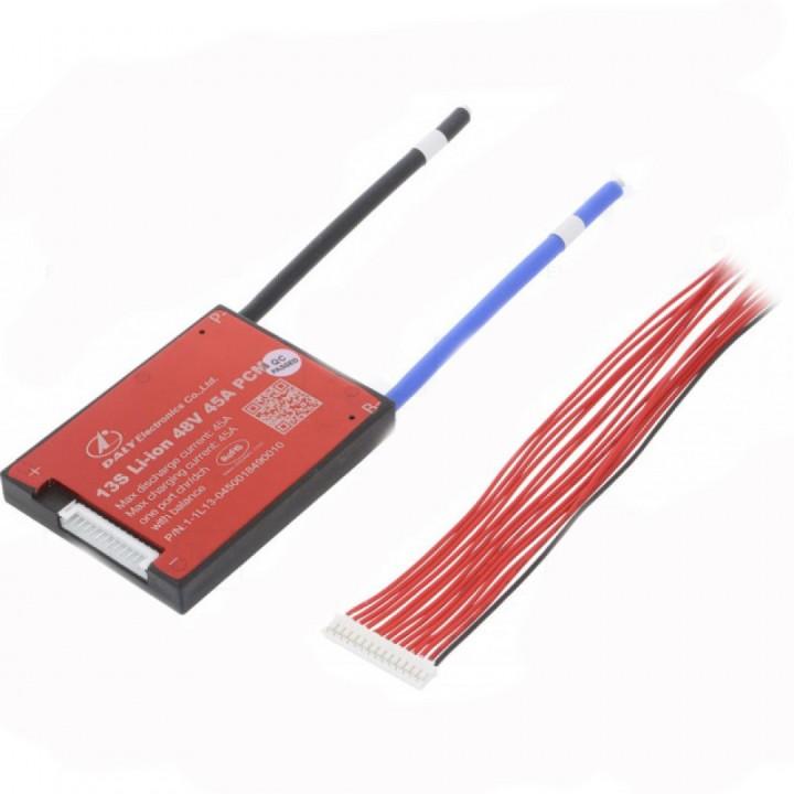 Плата защиты DALY для Li-Ion батареи  (13S 48.1В 45А) PCM-L13S45DLY48.1V