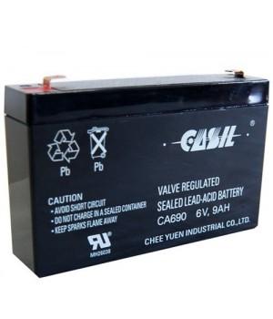 Аккумулятор свинцово-кислотный CASIL CA690 6V 9Ah