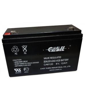 Аккумулятор свинцово-кислотный CASIL CA6120 6V 12Ah