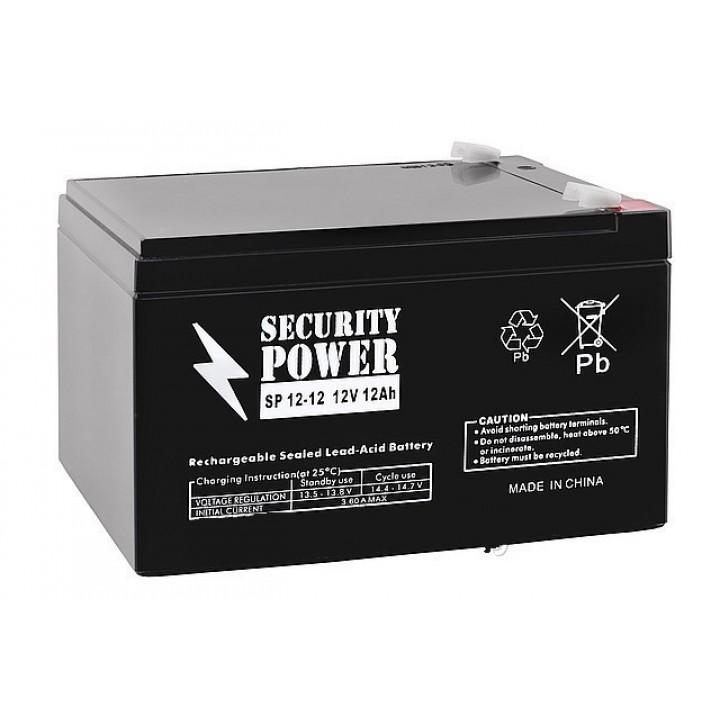 Аккумулятор для ИБП Security Power SP 12-12 F2 (12В/12 А·ч)