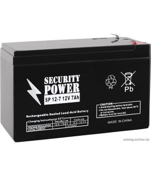Аккумулятор для ИБП Security Power SP 12-7 F1 (12В/7 А·ч)