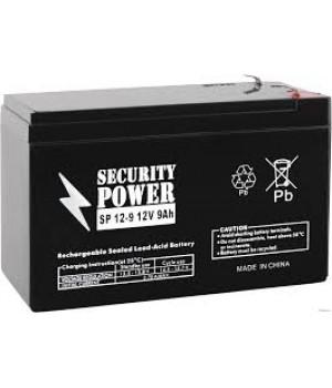 Аккумулятор для ИБП Security Power SP 12-9 F1 (12В/9 А·ч)