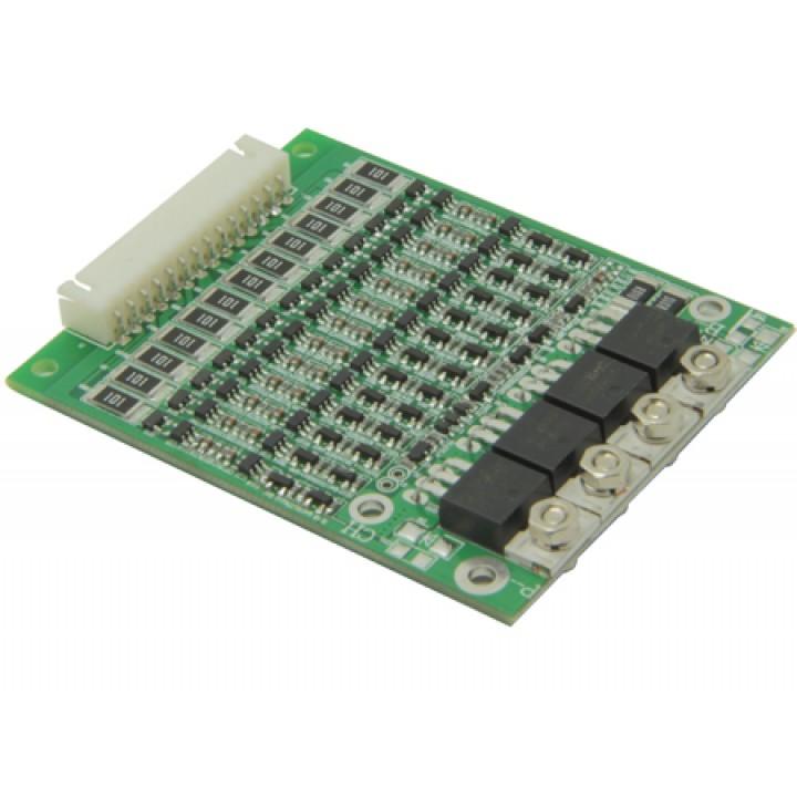 Плата защиты для литиевых аккумуляторов c балансиром и термореле 13S(48.1V/15А) Maxpower
