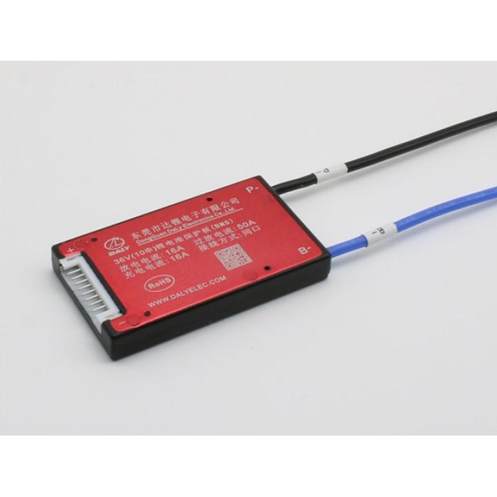 Плата защиты DALY для Li-Ion батареи  (10S 37.0В 16А) PCM-L10S16DLY37.0V