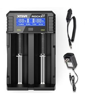 Зарядное устройство Xtar SV2 для li-ion аккумуляторов (в комплекте с сетевым и автомобильным адаптерами)