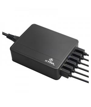Зарядное устройство Xtar U1 для li-ion аккумуляторов на 6 USB-портов (в комплекте с сетевым кабелем)