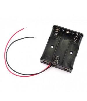 Батарейный отсек COMF для 3хAA, R6 с выводами, чёрный (до 50В) BH-331A