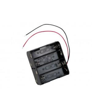 Батарейный отсек COMF для 8хAA, R6 с выводами, чёрный  (до 50В) BH-383A