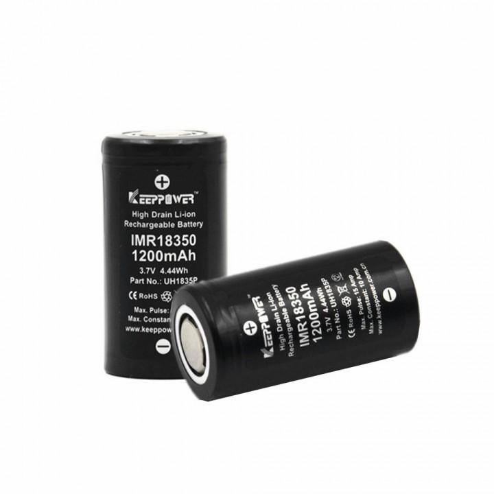 Аккумулятор KeepPower Li-ion 18350 (3.7 В, 1.2Ач) IMR18350 10A UH1835P (IMR18350)
