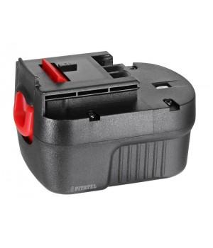 Аккумуляторная батарея Ni-Cd A12, A12EX, A12-XJ, FS120B, FSB12, HPB12 для инструмента BLACK&DECKER 12V 1.5Ah TSB-018-BD12B-15C