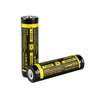 Аккумулятор XTAR Li-ion с защитой  (3.7 В, 800 мА/ч)  Xtar 14500 800mAh (PCB)