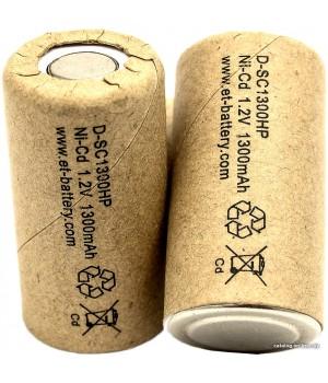Аккумулятор ET Ni-CD (1.2 B, 1.3 А/ч) ET D-SC1300HP