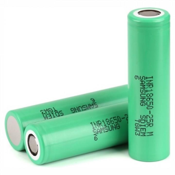 Аккумулятор Samsung Li-ion (3.7 В, 2.5 А/ч) INR 18650-25RM