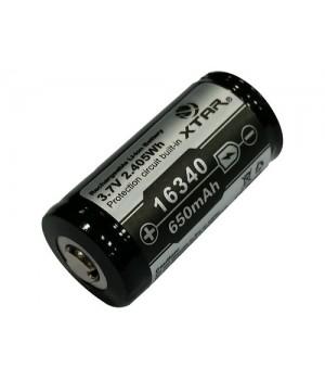 Аккумулятор XTAR Li-ion с защитой  (3.7 В, 650 мА/ч)   Xtar 16340 650mAh (PCB)