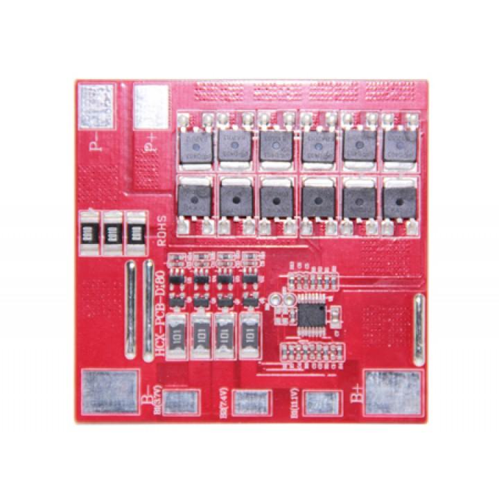 Плата защиты для литиевых аккумуляторов с балансиром и термореле 3S/4S(11.1V/14.8B/25А) Maxpower