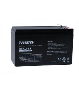 Аккумулятор свинцово-кислотный Pitatel HR7.2-12, 12V 7.2Ah