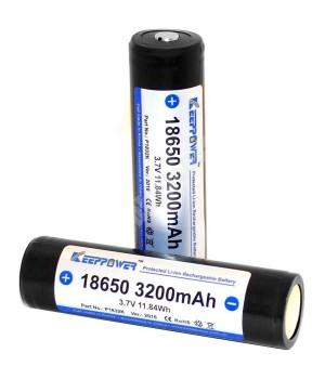 Аккумулятор KeepPower Li-ion с защитой 18650 (3.7 В, 3.2 А/ч) P1832K