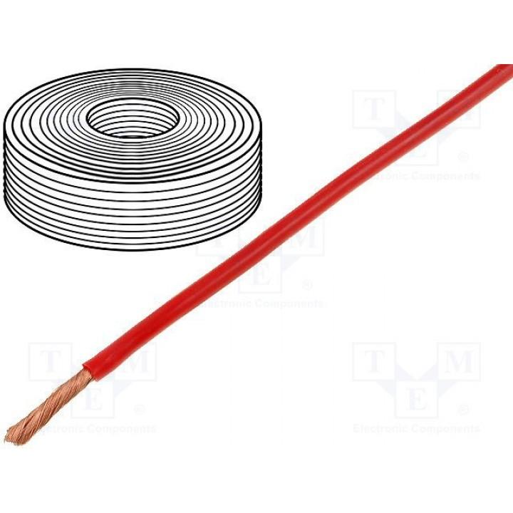 Провод DONAU  D-2520  (1x2,5mm2) силиконовый красный (до 50В)  D-2520