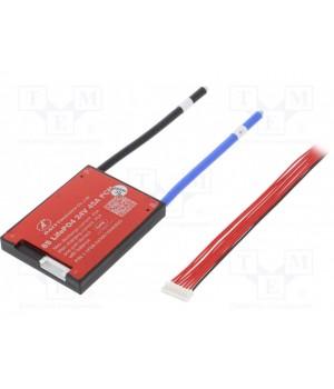 Плата защиты DALY для Li-FePO4  батареи  (8S 25.6В 45А) PCM-F08S45DLY25.6V