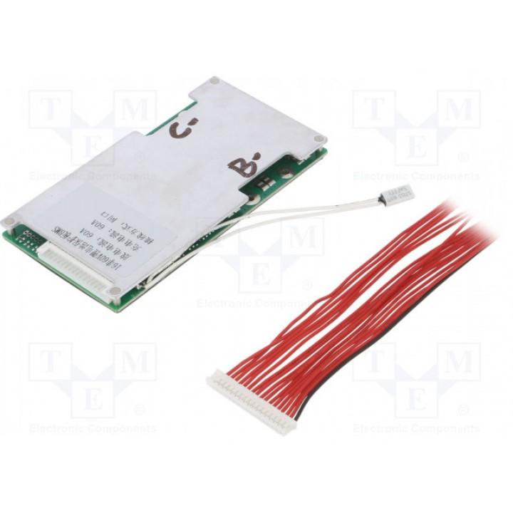 Плата защиты DALY для Li-Ion батареи  (16S 59.2В 40А) PCM-L16S40DLY59.2V