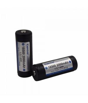 Аккумулятор KeepPower Li-ion с защитой 18500 (3.7 В, 2.0 А/ч) P1850C2 (PCB)