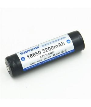 Аккумулятор KeepPower Li-ion с защитой 18650 (3.7 В, 3.2 А/ч)(Panasonic NCR18650BM) P1832J