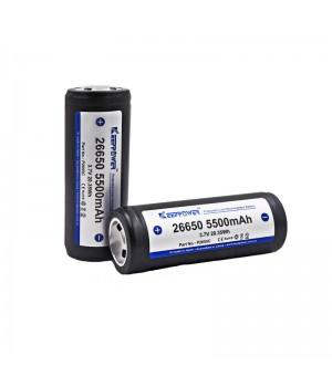 Аккумулятор KeepPower P2655C (PCB) Li-ion  с защитой 26650 (3.7 В, 5.5 А/ч)