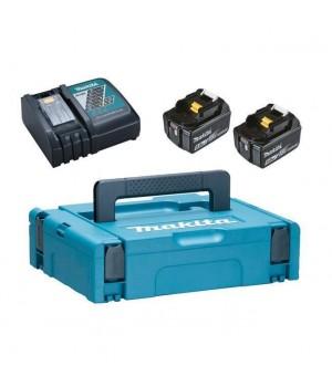 Аккумуляторный блок 18В 2х5.0 Ah + зарядное DC18RC MakPac, MAKITA, арт: 198311-6